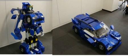Crean un impresionante robot transformer a escala
