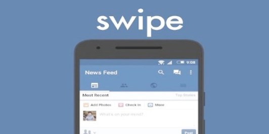 Swipe for the Facebook