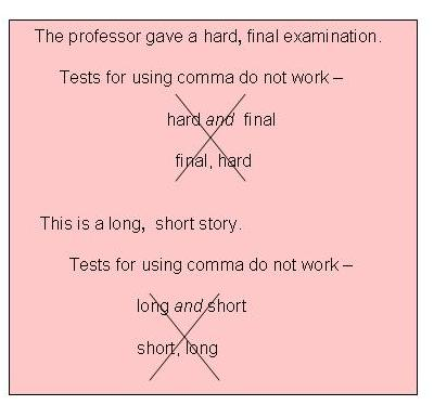 COMMA - comma and and