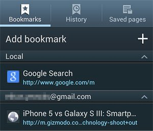 Bookmarks Screen
