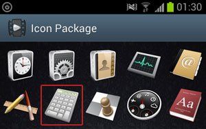 Icon Package Screen