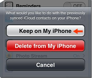 Keep on My iPhone Option