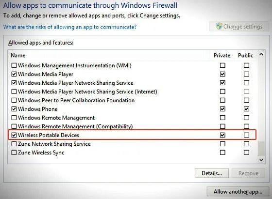 allow apps through windows firewall