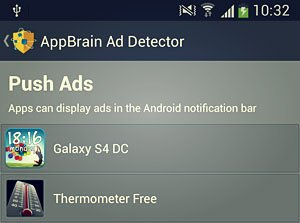 push ads category