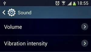 sound volume