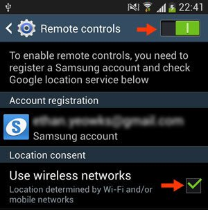 remote controls screen
