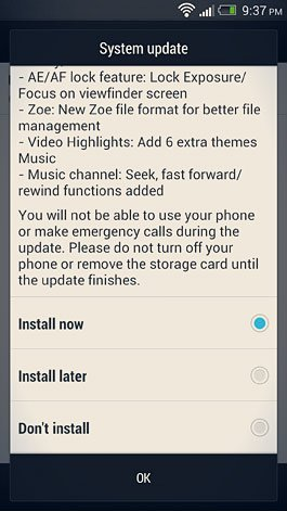 install now option