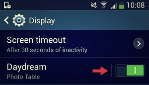 settings daydream switch