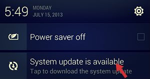 system update notification