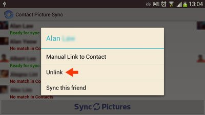 unlink option