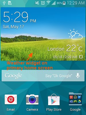 how to change home screen on s5