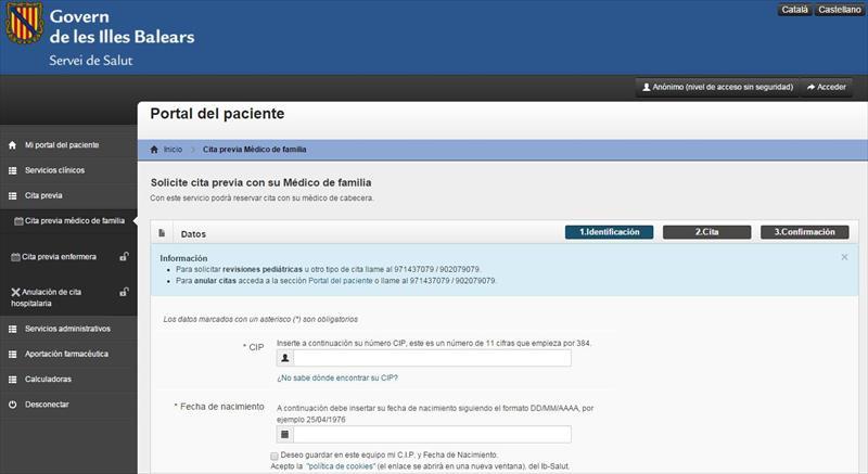 Cita previa médico Baleares Baleares CALA MILLOR - Spanish