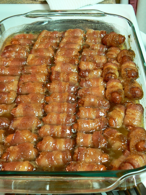 CRACK WEANIES!!! Bacon Wrapped Smokies with Brown Sugar and Butter – These are u