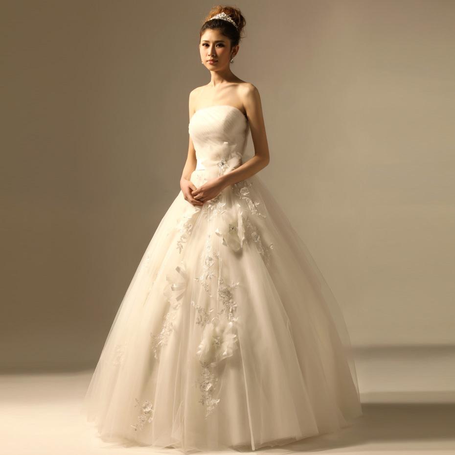Layered Fancy Pink Vintage Ball Gown Organza Wedding Dress