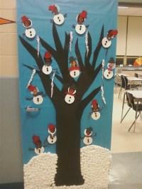 school christmas door decorating ideas  Google Search