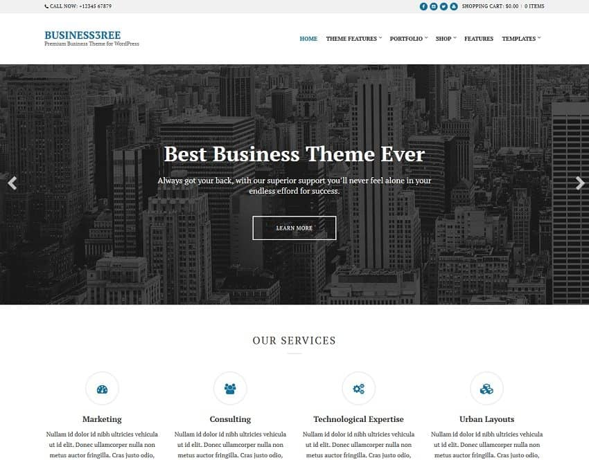 55 Best BUSINESS WordPress Themes of 2018 (UPDATED) - free po template