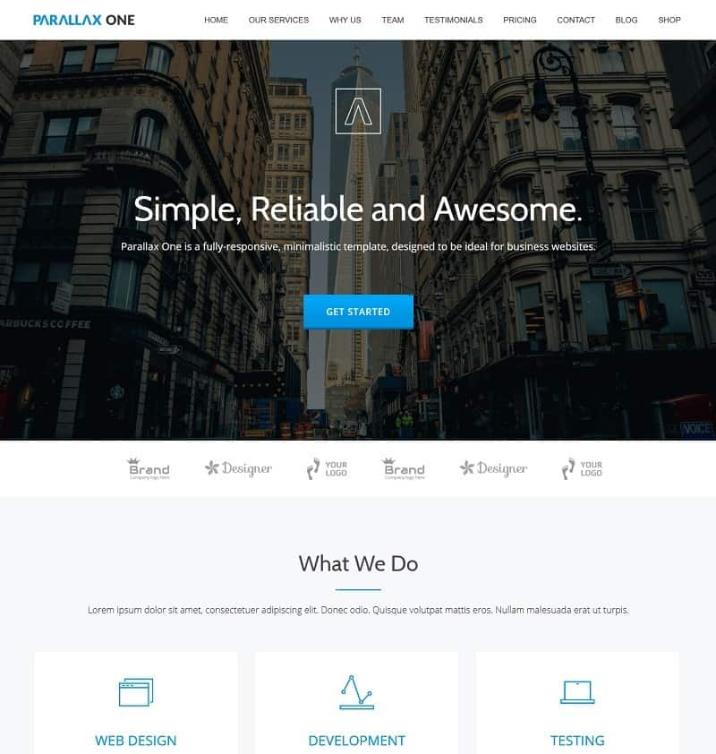 30+ Best Simple WordPress Themes of 2018 (UPDATED) - company contact list template