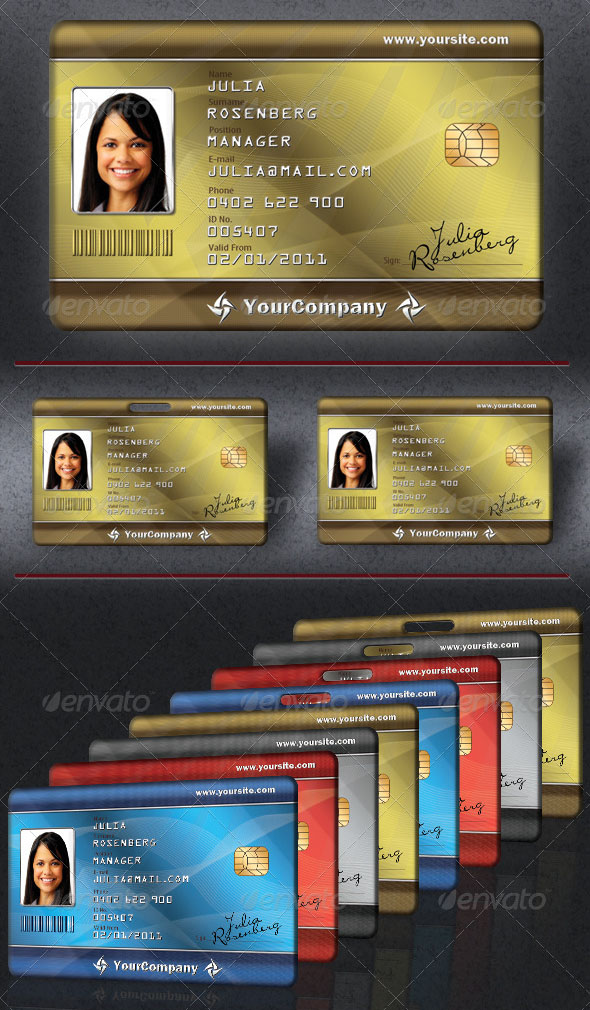 30+ Best ID Card and Lanyard Templates (PSD, Vector) Free \ Premium - id card template