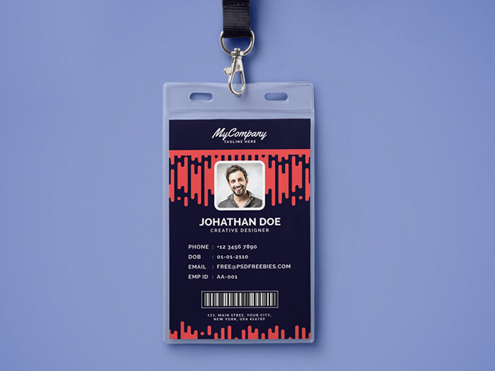 30+ Best ID Card and Lanyard Templates (PSD, Vector) Free  Premium