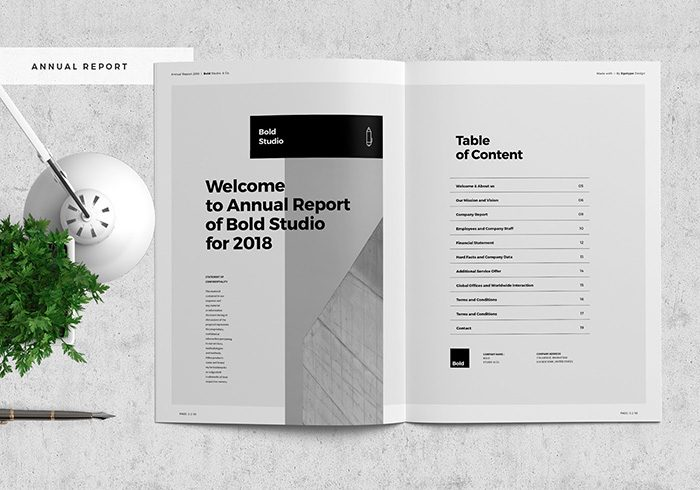 48+ Best Annual Business Report Templates (PSD, Word, PowerPoint, ID) - annual report template design