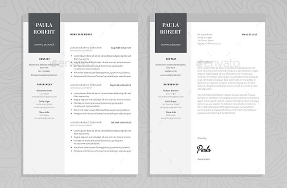 60+ Awesome Resume CV Templates 2018 (Word, Indesign, PSD) - amazing resume templates