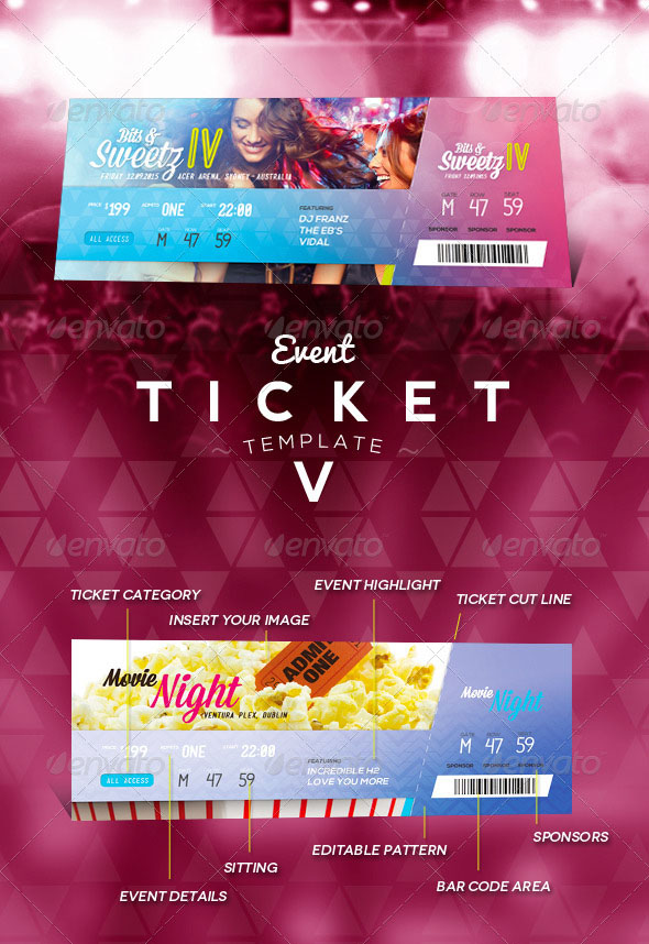 Fundraiser Ticket Template Free Download - Arch-times - event ticket template free download