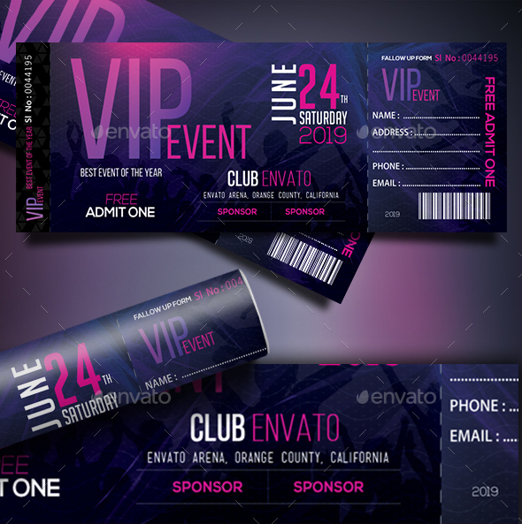 66+ Multipurpose Ticket Templates 2018 (PSD, Vector, Word)