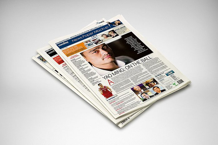 50+ HQ Newspaper Mockups and Templates 2018 (PSD, InDesign) - news paper template