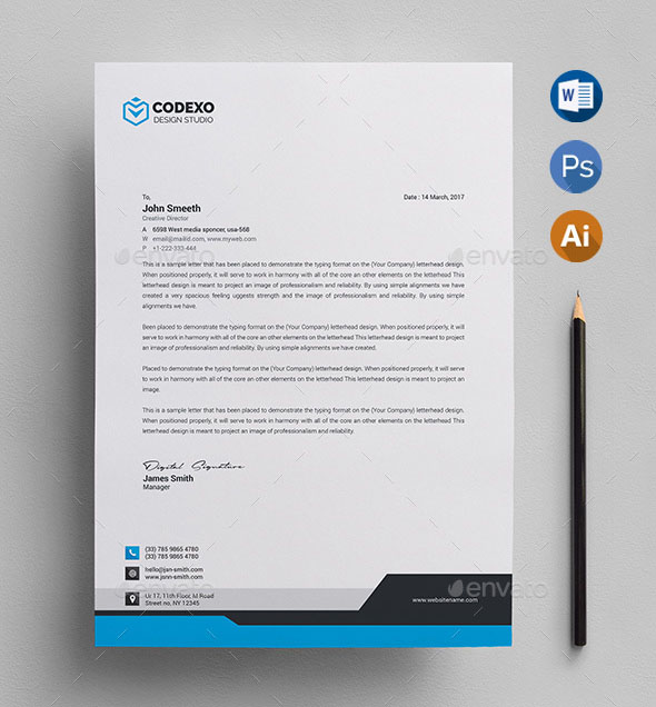 50+ Best Letterhead Design Templates 2018 (PSD, Word, PDF, InDesign) - psd letterhead template