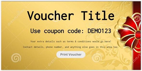 css3 Voucher Code Template - Free Website Templates