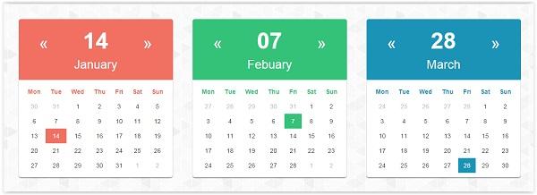 css3 Calendar Template - Free Website Templates - calendar template for website