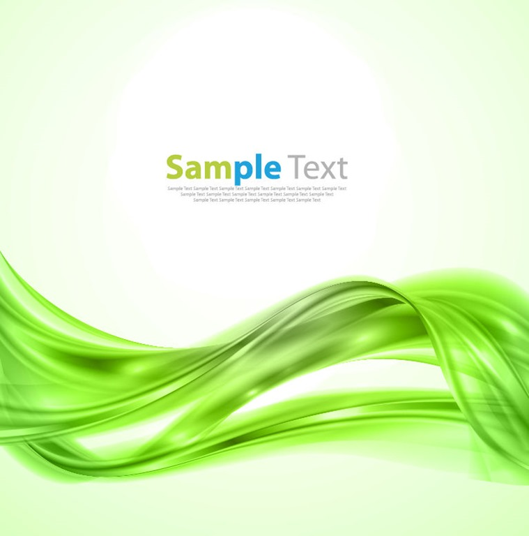 Invitation Material Icon Green Abstract Wave Background Vector Illustration | Free