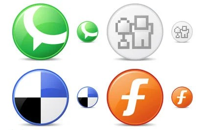 Circle Social Bookmark Icons