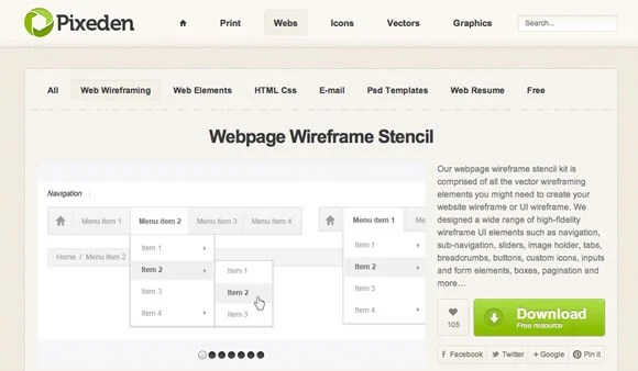 10 Free UI Wireframe Kits - Web Design Ledger