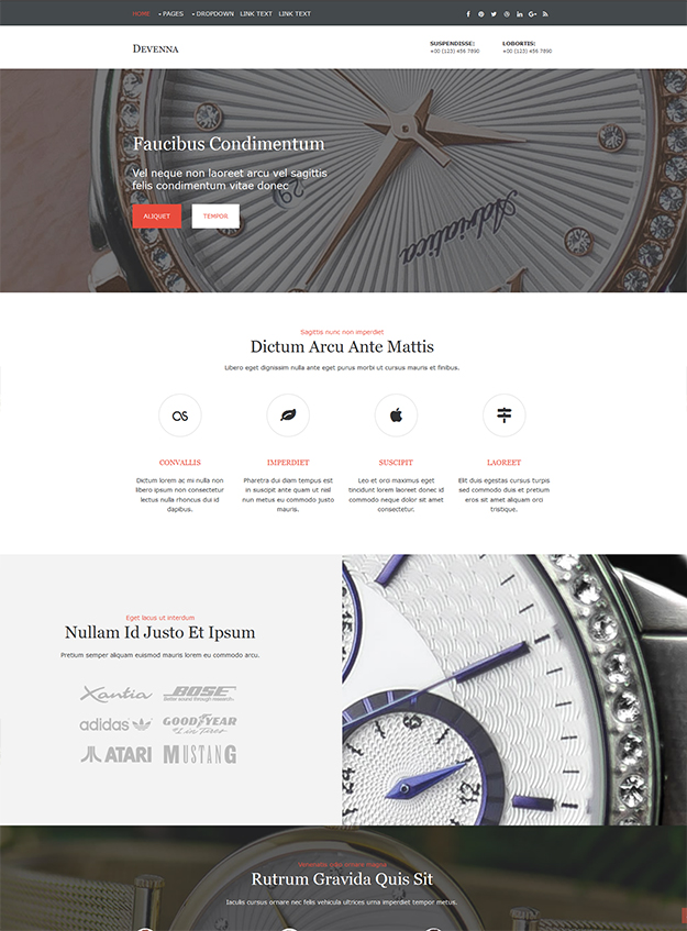 Devenna - free Website Template
