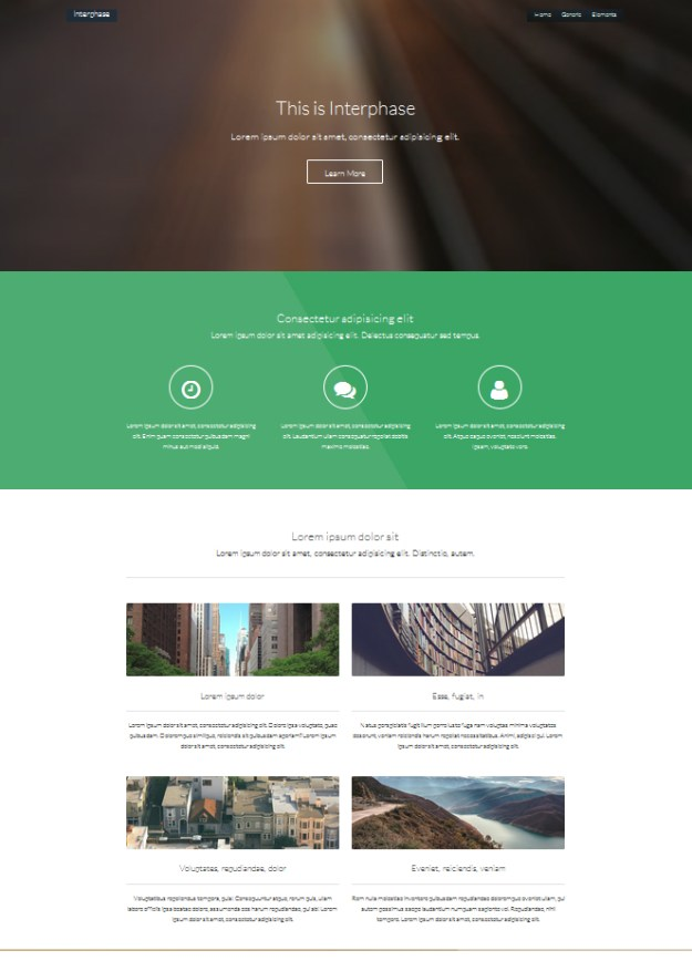Free HTML5 template - Interphase