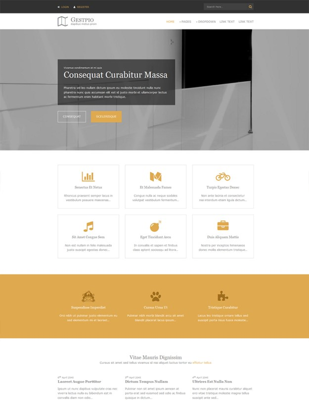 Gestpio - free HTML5 Website Template