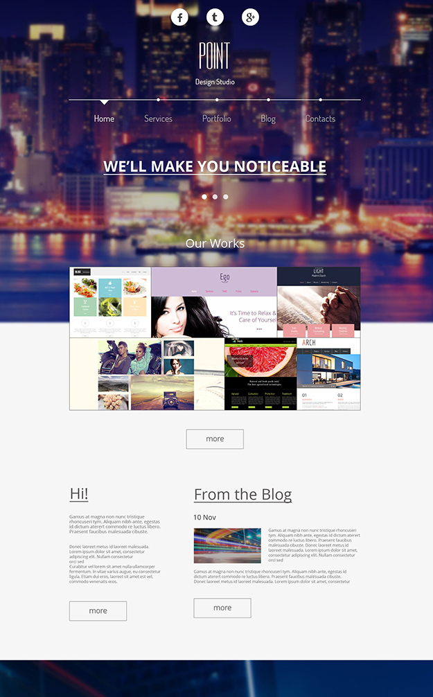 Point - free website template