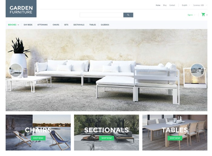 Garden Furniture PrestaShop Theme