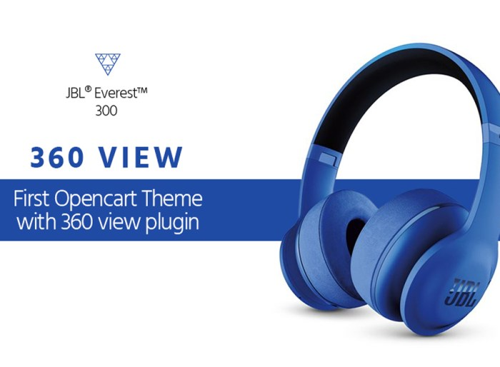 Audio Store with 360 view plugin OpenCart Template
