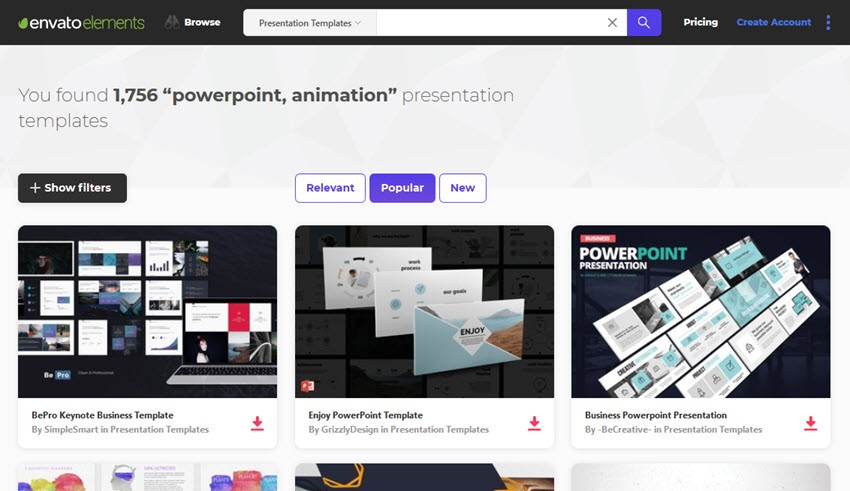 16+ Best Free Animated PowerPoint Templates With Cool Slides - Web