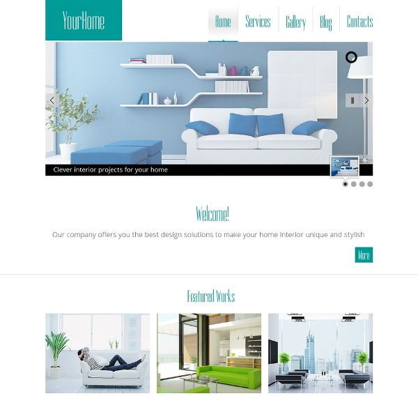 35 best free responsive html5 css3 website templates for Interior design responsive website templates edge free download
