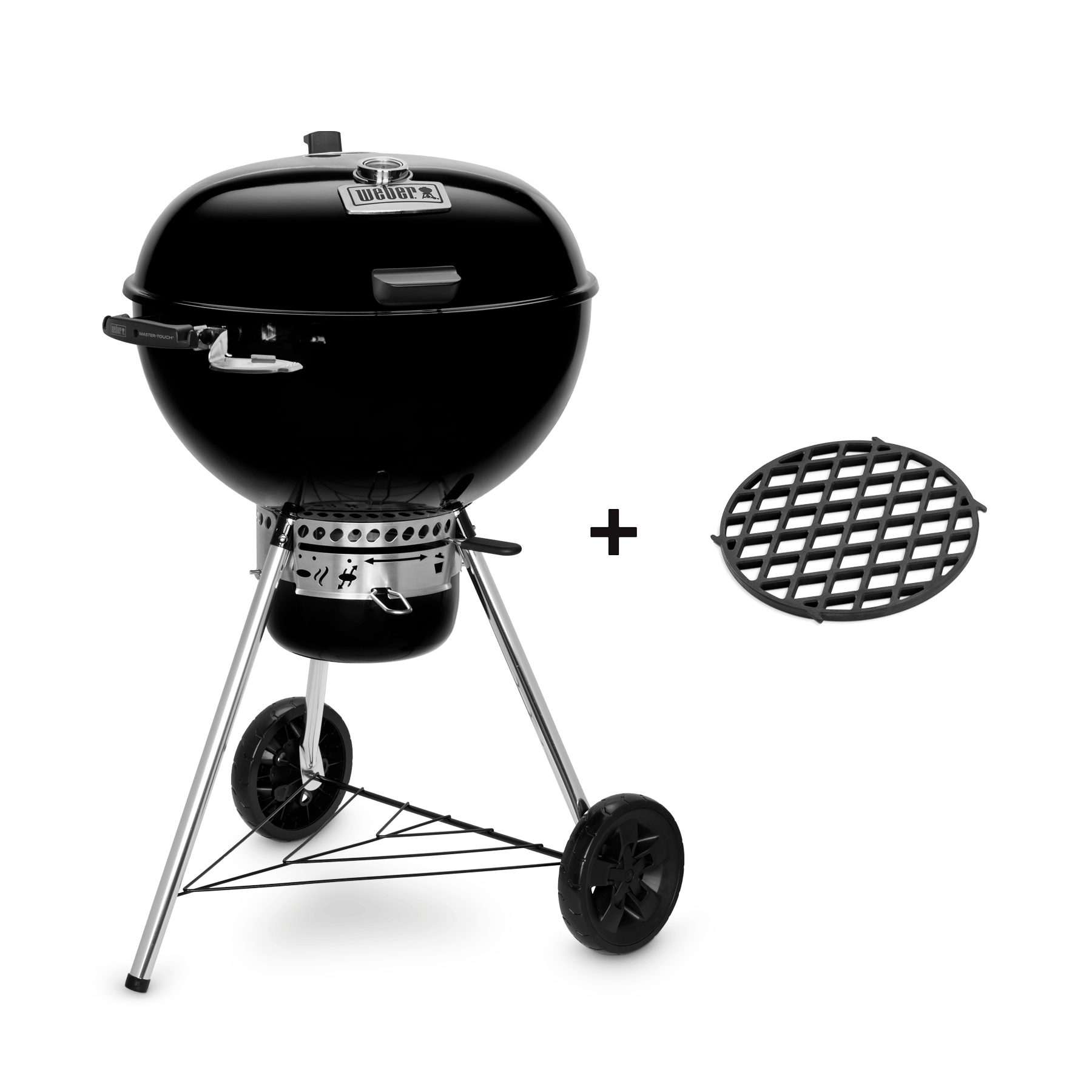 Weber Grill One Touch Master Touch Gbs Premium E 5775 Charcoal Barbecue 57 Cm Official