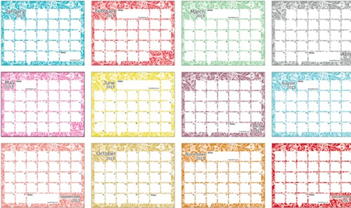 32 Calendarios 2013 para imprimir, plantillas PSD, Excel y Word