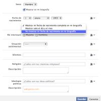 Cómo ocultar tu edad y fecha de cumpleaños en Facebook