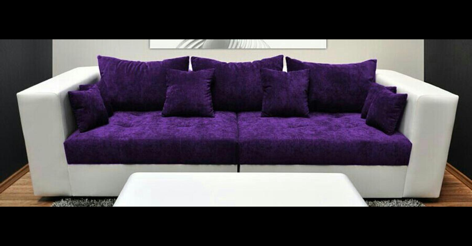 Couch Lila Xxl-sofa Lila Weiss In 80469 München For €150.00 For Sale | Shpock