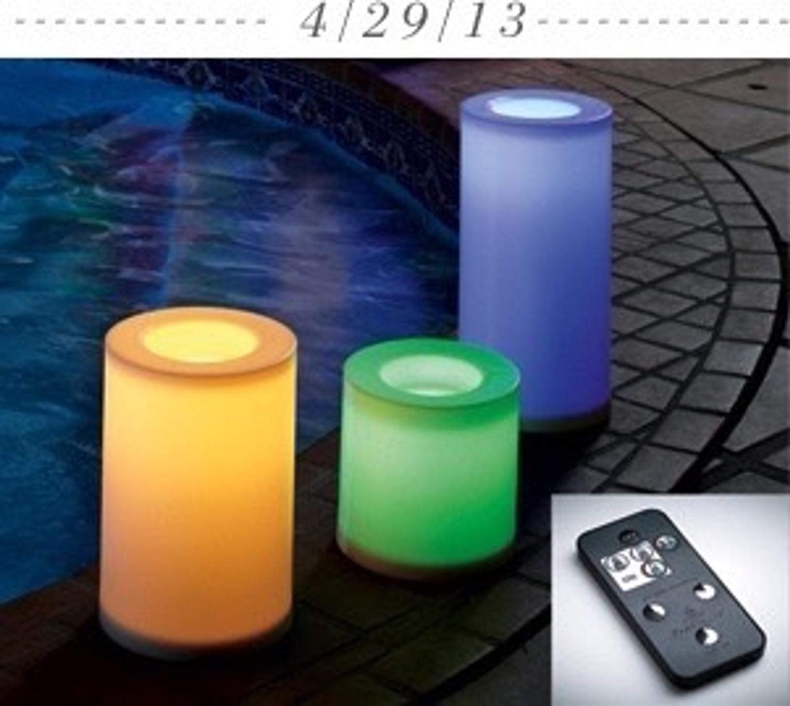 Outdoor Led Kerzen Partylite Outdoor 3er Set Outdoor Led Kerzen