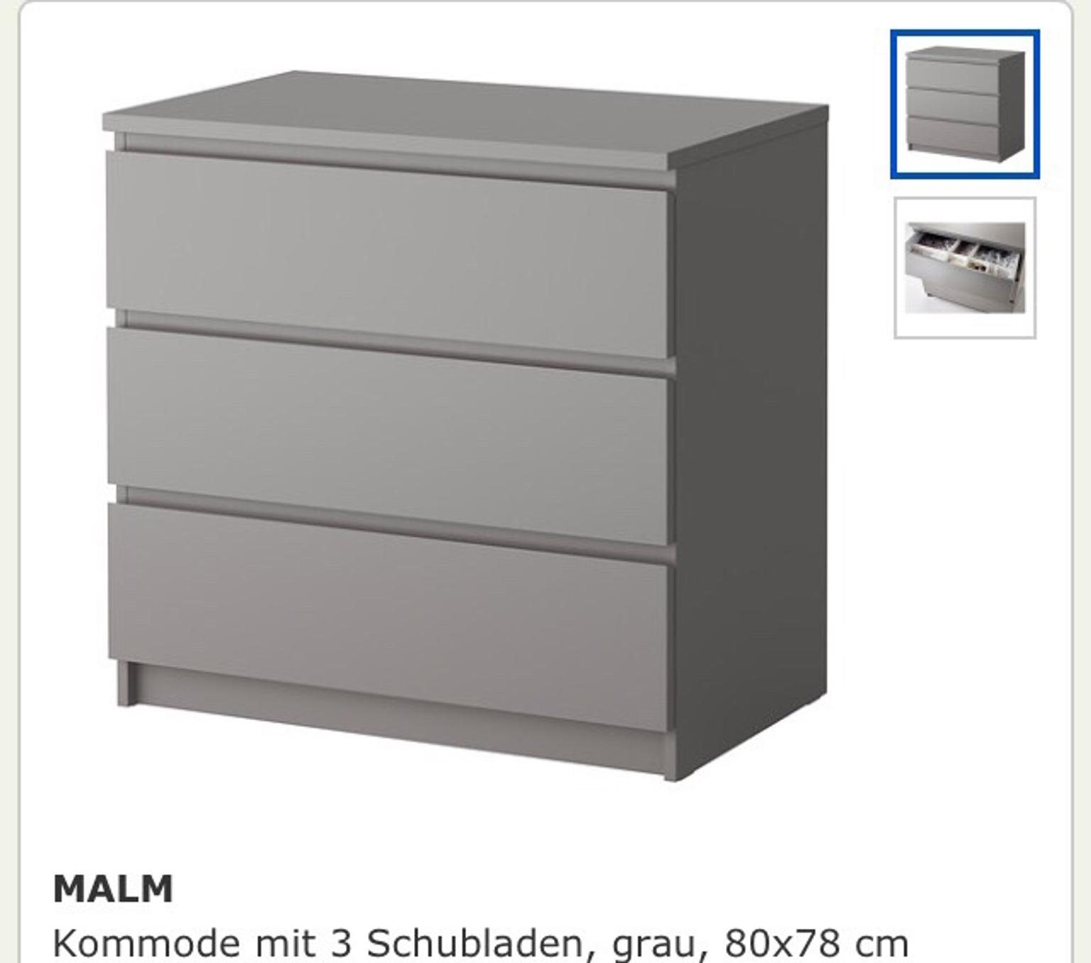 Kommode Holz Grau Ikea Malm Kommode Grau In 45128 Essen For €45.00 For Sale