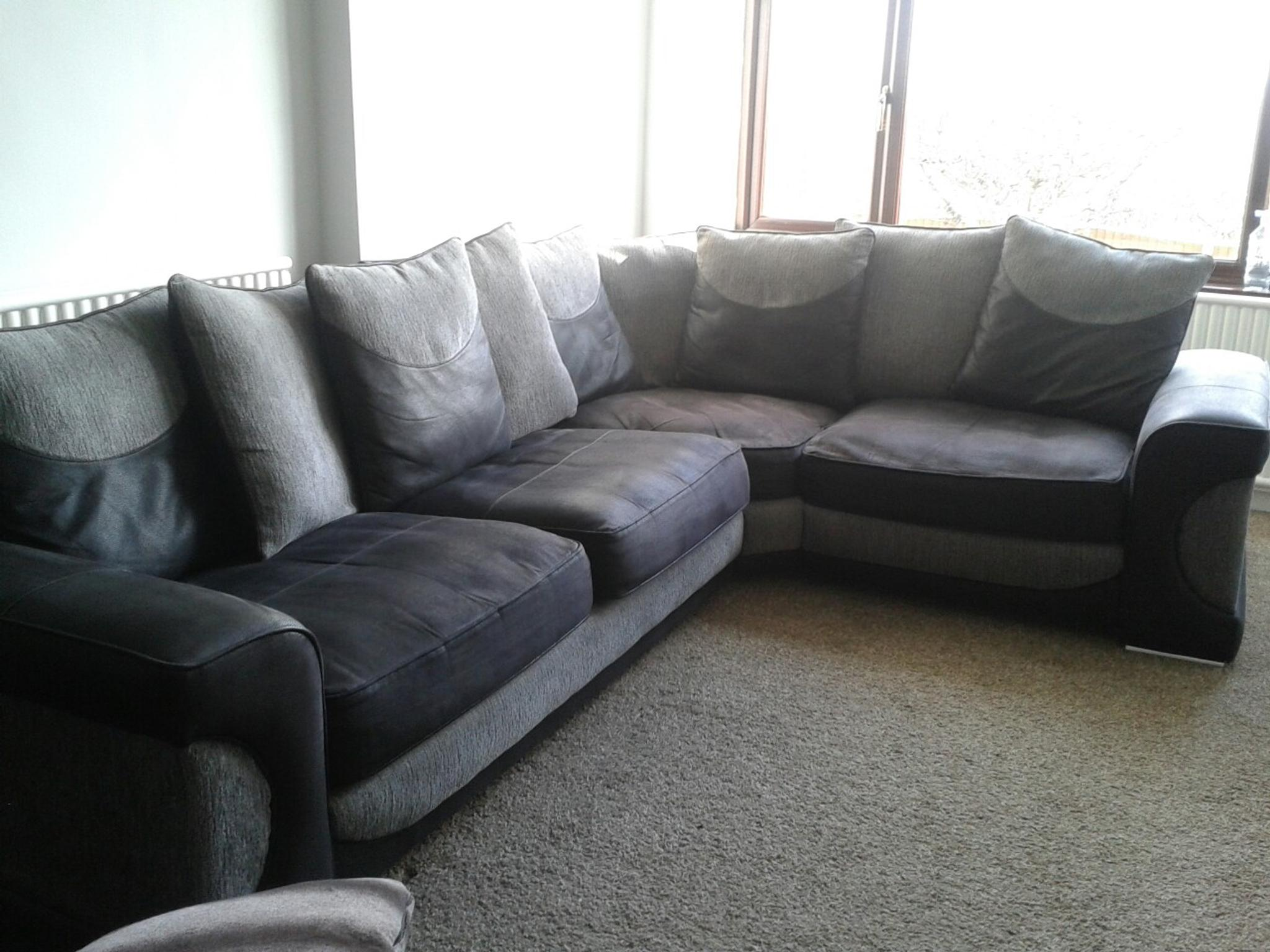 Large Sofology Corner Sofa Black And Grey In Stoke On Trent For 250 00 For Sale Shpock