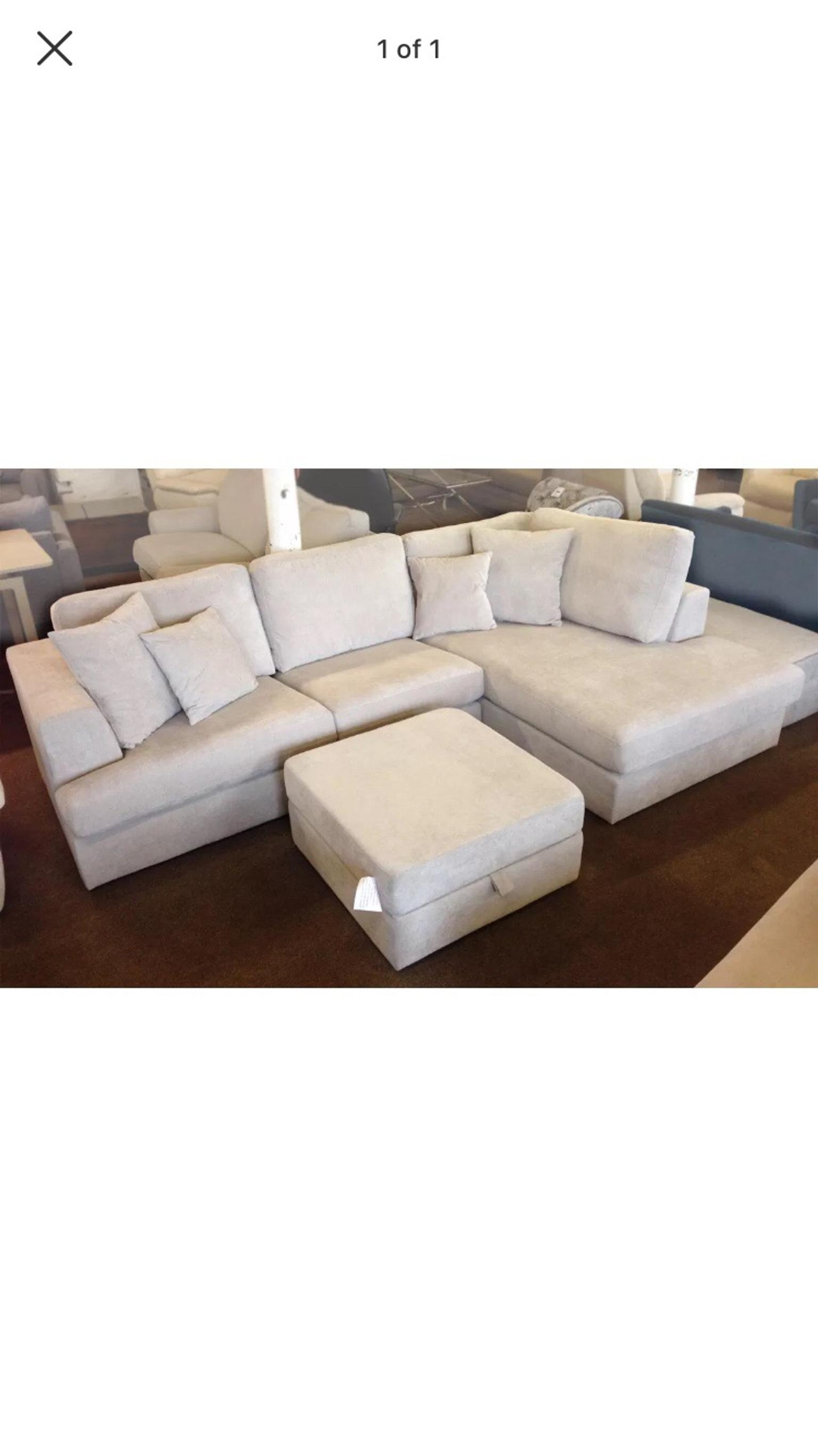 Next Stratus Iii Corner Sofa Silver Grey In Tq1 Torquay For 775 00 For Sale Shpock